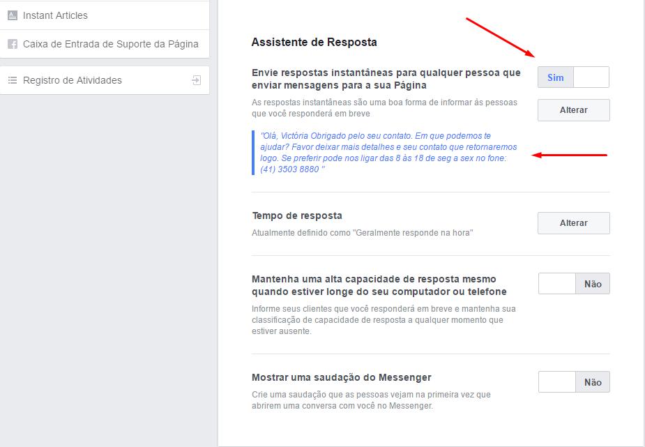 Como colocar respostas automáticas na sua página do Facebook!