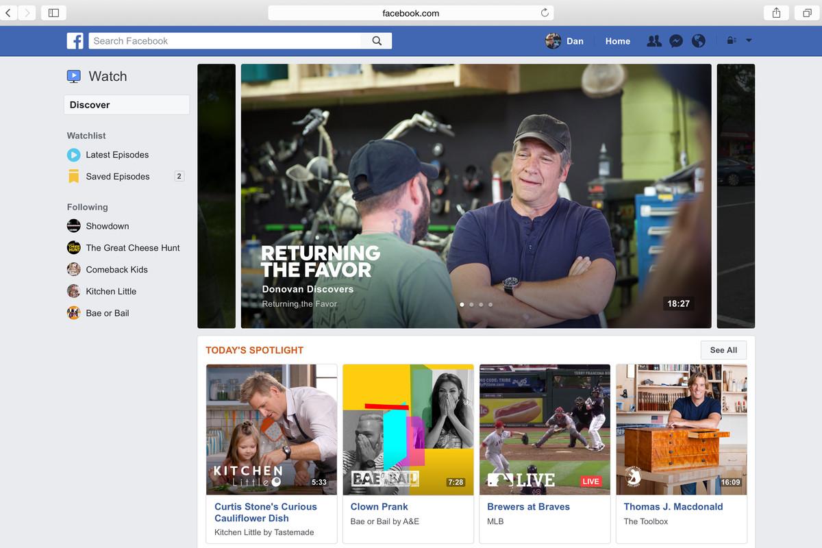 Conheça o novo Facebook Watch 1